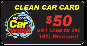 $50 Car Wash Gift Card